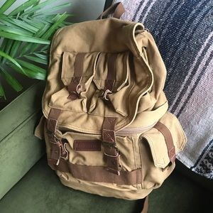 Handbags - hiking backpack multi level padded lightweight tan